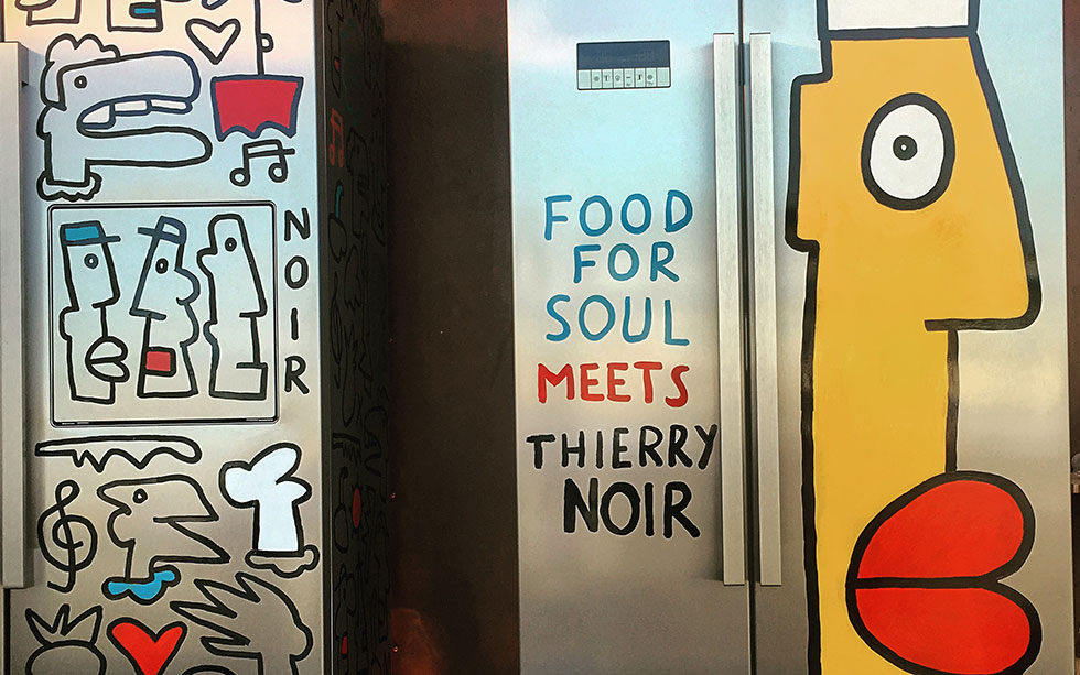 Artwork by Thierry Noir - Face a Fridge