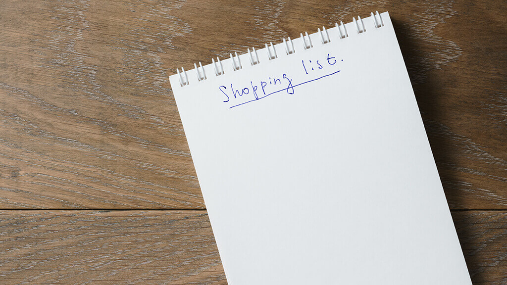 Planifier sa liste de courses | batch cooking