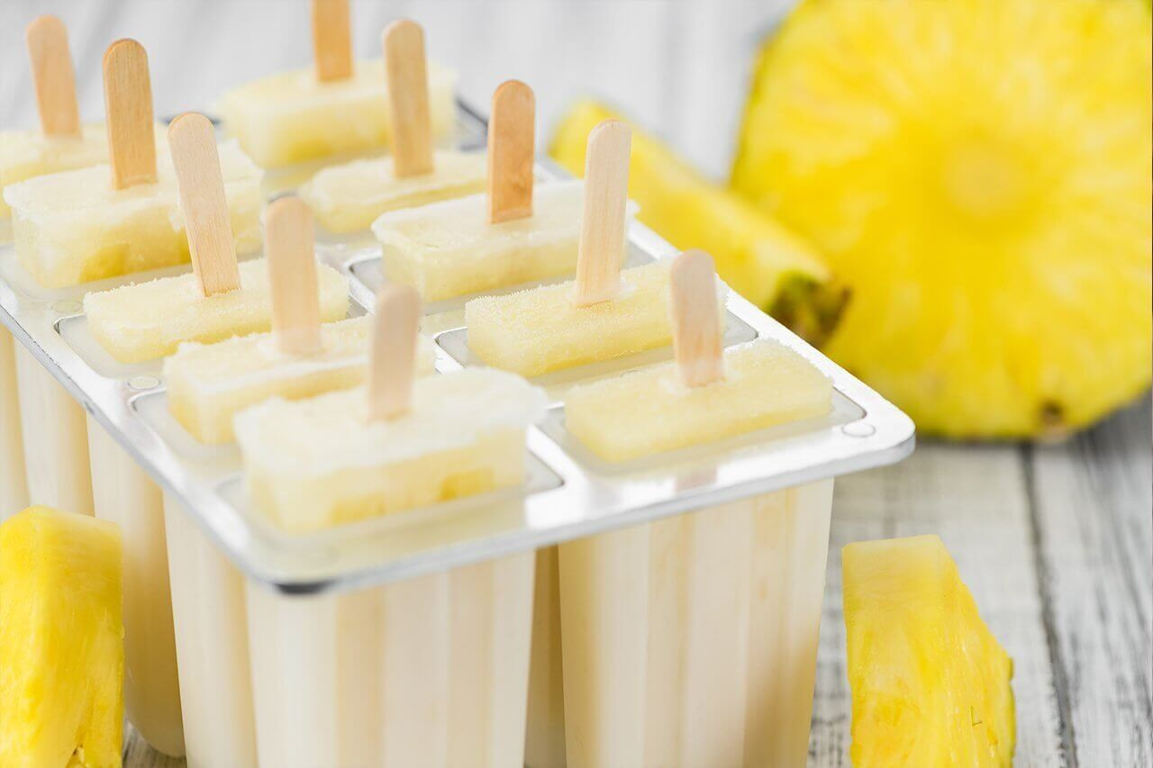 Keep cool with pineapple lollies
