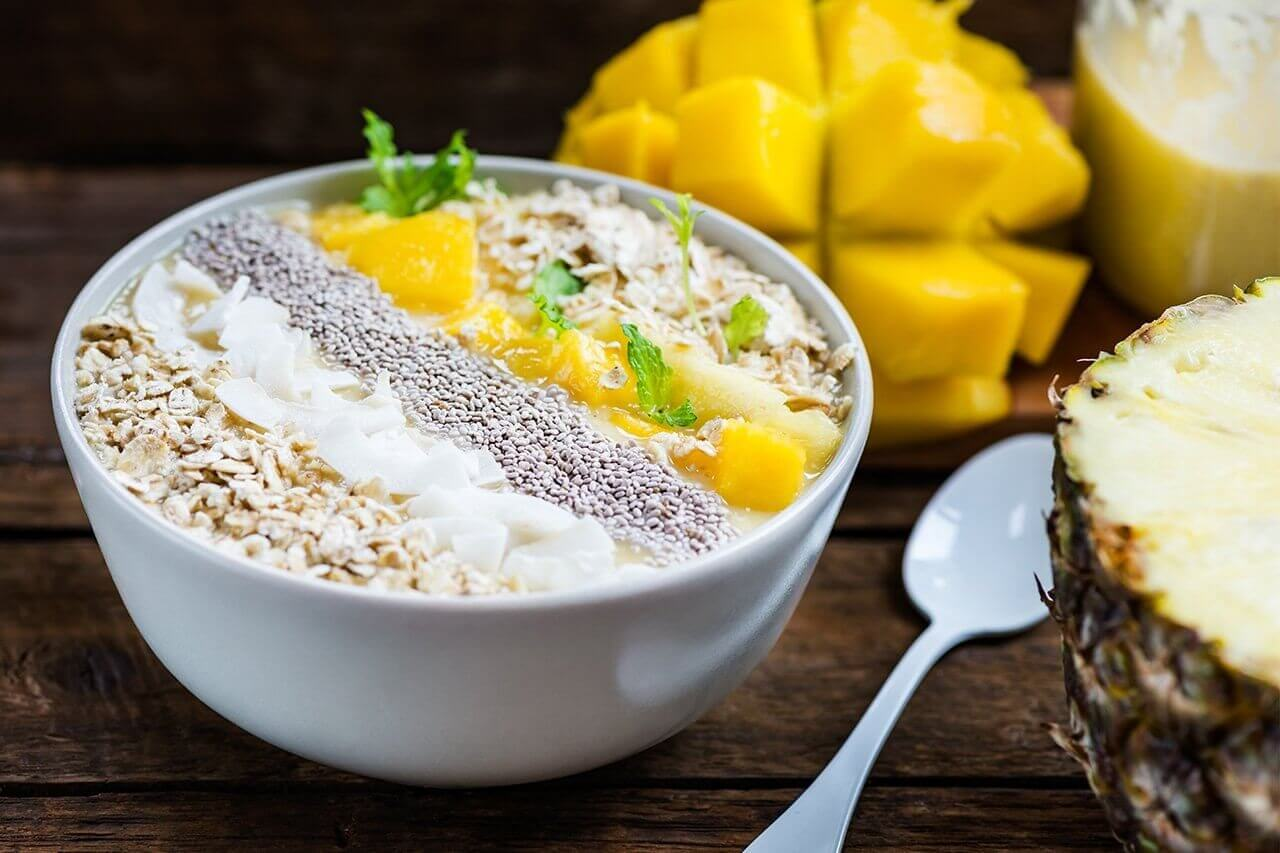 Breakfast pineapple oatmeal