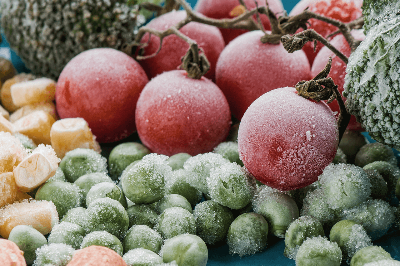 Fruit and vegetables have specific freezing requirements